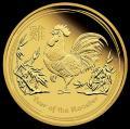 Zlatá mince Rok Kohouta 2017 1OZ