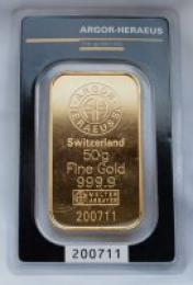 Zlatý slitek 50g