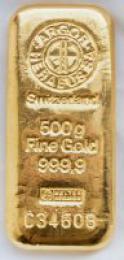 Zlatý slitek 500g