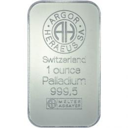 Palladiový slitek 1OZ - ryzost 9995/1000