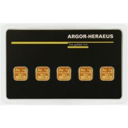 Argor-Heraeus Multicard Gold 5 x 1 g