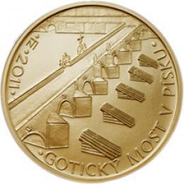 Zlatá mince - Gotický most v Písku b.k.