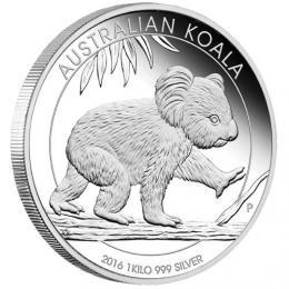 Støíbrná Koala 2016 1 kg Proof-pouze 10kusù v nabídce