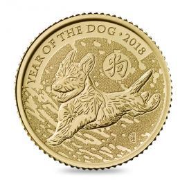 Rok Psa  mince ražená do 1/10 uncí zlata