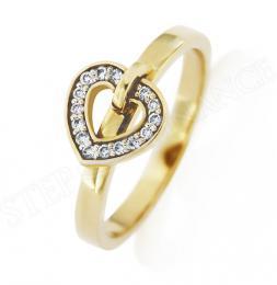 Zlatý diamantový prsten AMORE s 15 pøírodními kameny