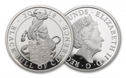 The Queen's Beast The Black Bull 5OzAg Proof