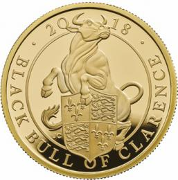 The Queen´s Beasts - The Black Bull of Clarence 2018 £500 5oz Gold Proof