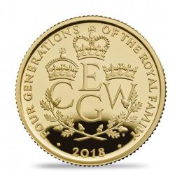 Four Generations of Royalty 2018 UK Gold Quarter-Ounce Coin