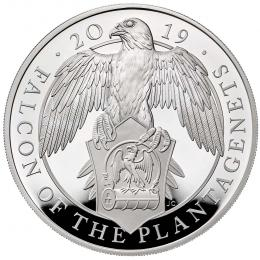 The Falcon of the Plantagenets 2019 UK One-Ounce Silver Proof  - zvìtšit obrázek