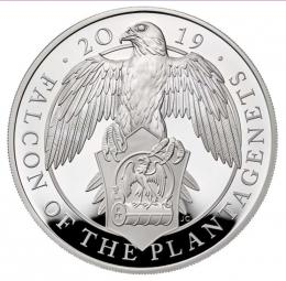 The Falcon of the Plantagenets 2019 UK Five-Ounce Silver Proof