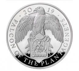 The Falcon of the Plantagenets 2019 UK Silver Proof Kilo Coin