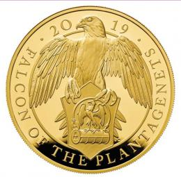The Falcon of the Plantagenets 2019 UK Five-Ounce Gold Proof Coin - zvìtšit obrázek