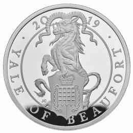 The Queens Beast The Yale of Beaufort 1 Oz Ag Proof - zvìtšit obrázek