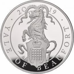 The Queens Beast The Yale of Beaufort 5 Oz Ag Proof