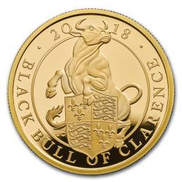 The Queens Beasts  The Black Bull of Clarence 2018 Gold Quarter Ounce   Proof