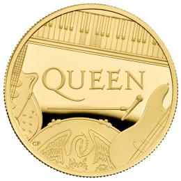 QUEEN Music Legends 1 Oz Gold Coin Proof 100 Pounds United Kingdom 2020