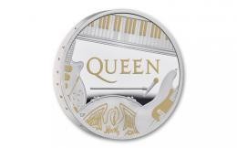 Støíbrná mince QUEEN Music Legends 1 Oz Silver Coin 2 Pounds United Kingdom 2020 - zvìtšit obrázek