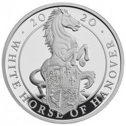 Støíbrná mince The White Horse of Hanover 1OZ proof