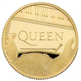 QUEEN Music Legends 1/4 Oz Gold Coin Proof 25 Pounds United Kingdom 2020