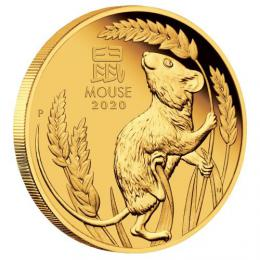 Zlatá mince Australian Lunar Series III 2020 Year of the Mouse 1oz Gold Proof  Coin - zvìtšit obrázek