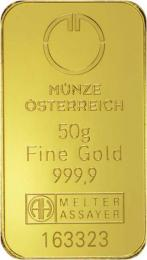 Münze Österreich Goldbarren 50 g - zvìtšit obrázek
