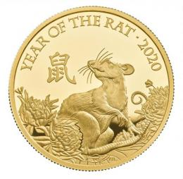 Lunar Year of the Rat 2020 UK One Ounce Gold Proof Coin