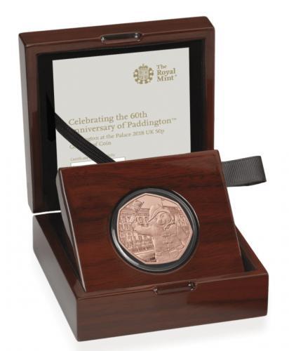2018 Paddington Bear Buckingham Palace 50p Fifty Pence Gold Proof Coin Box Coa