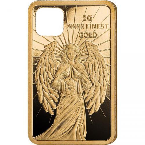 2018 SOLOMON ISLANDS 2 GRAM .9999 GUARDIAN ANGEL GOLD COIN PENDANT