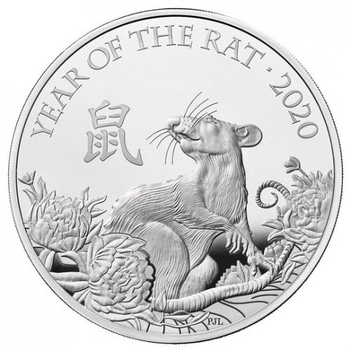 Lunar Year of the Rat 2020 UK One Ounce Silver Proof Coin