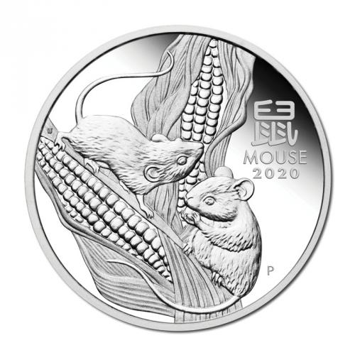 Australian Lunar Series III 2020 Year of the Mouse 1oz Silver Proof Coin