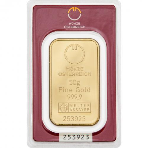 Münze Österreich Goldbarren 50 g