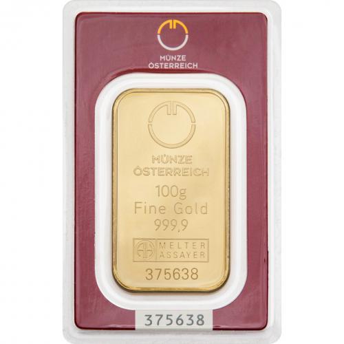 Münze Österreich Goldbarren 100 g