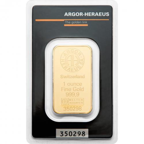 Zlatý slitek 1 x OZ Argor-Heraeus