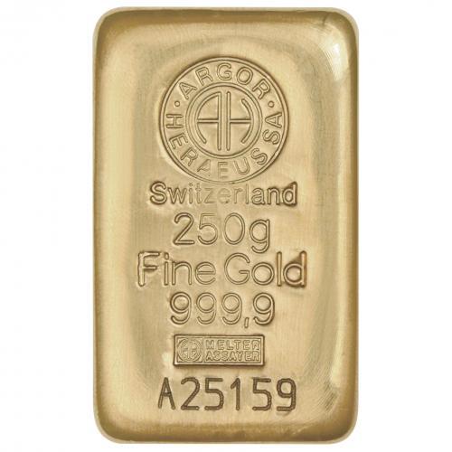 Zlatý slitek 250g Argor-Heraeus