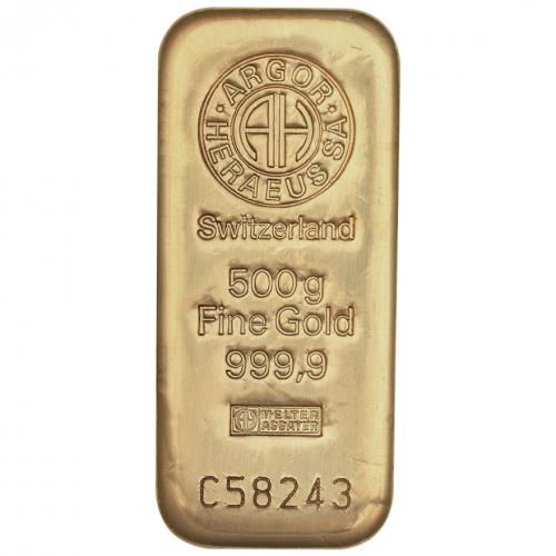 Zlatý slitek 500g Argor-Heraeus