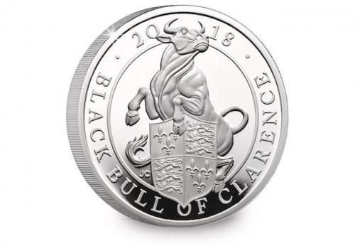 The Black Bull of Clarence 2018   One-Ounce Silver Proof Coin