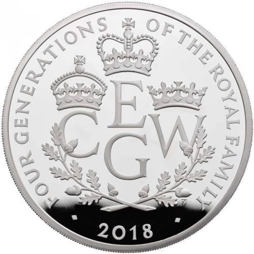 Four Generations of Royalty 2018  UK Silver Five-Ounce Coin