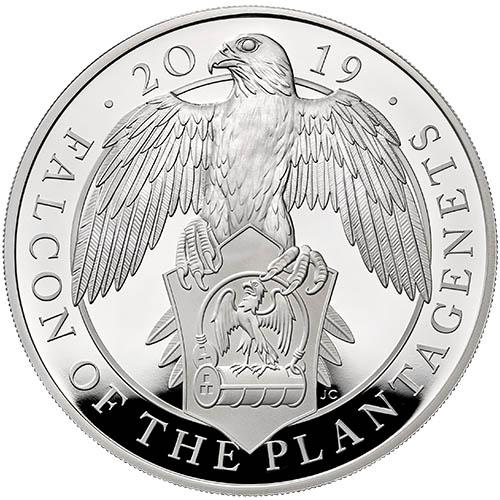 The Falcon of the Plantagenets 2019 UK One-Ounce Silver Proof