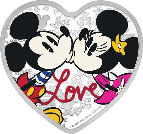 Disney Láska støíbrná mince ve tvaru srdce