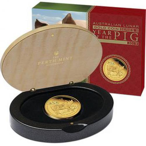 Australian Lunar Series II 2019 Year of the Pig 1/4 Oz Gold Proof Coins