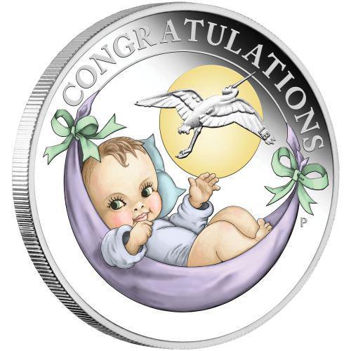 Støíbrná mince k narození dítete 2020 1/2 Oz silver proof