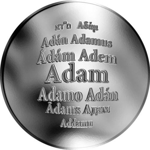 Adam- støíbrná medaile 1OZ