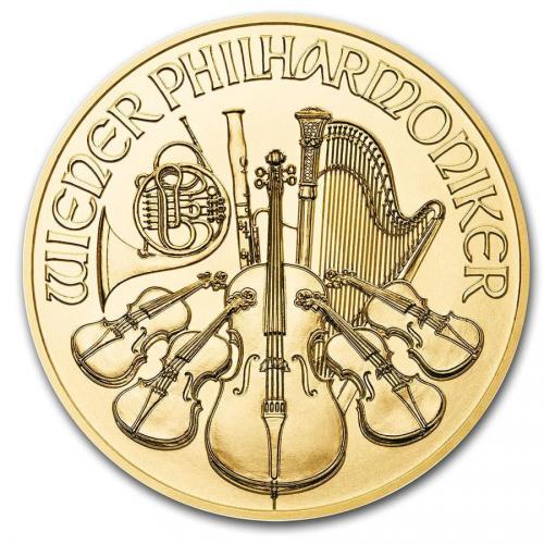 Wiener Philharmoniker 1/2 OZ  gold