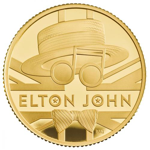 Elton John 2020 UK One Ounce Gold Proof Coin