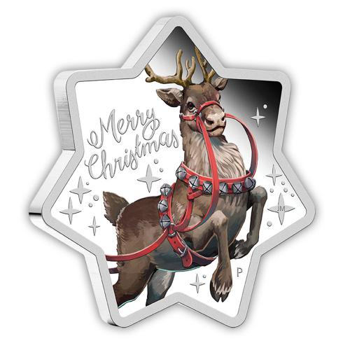 Australien 1 Dollar 2019 - Merry Christmas Münze in Sternform - 1 Oz Silber PP