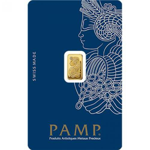 Zlatý slitek PAMP Fortuna 1 g