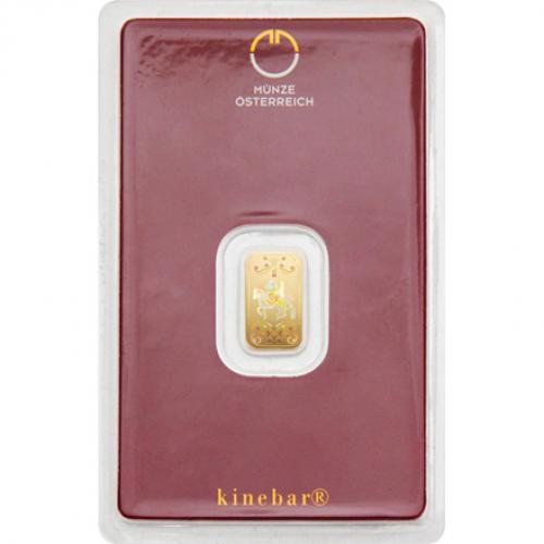 Münze Österreich Goldbarren 1 g - Kinegram