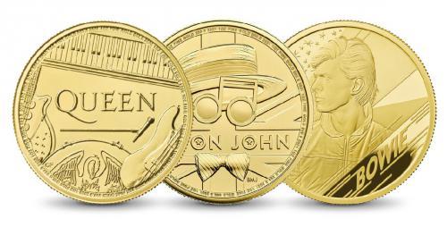 Set Music Legends - Queen, Elton John, David Bowie 3x1 Oz Gold BK