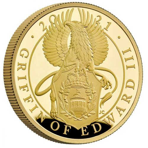 The Queens Beast - The Griffin of Edward III 1 Oz proof coin gold