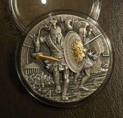 Ares - BÙH VOJNY - Ares god of war coin silver 2 oz 2017